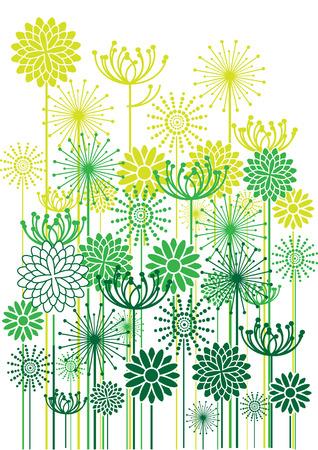 bright vector flowers background Çizim
