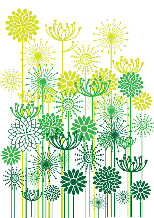 bright vector flowers background Illustration