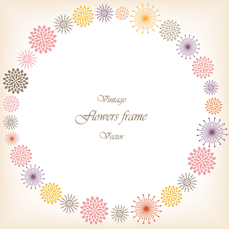Romantic vector floral frame
