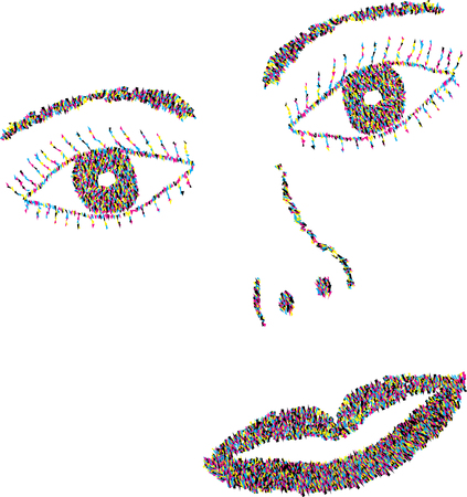 pixelated: pixelated vector face