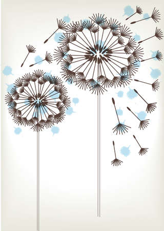 two: two dandelions sketch