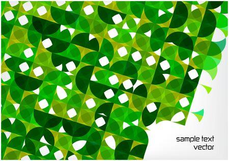 retro circles: bright green retro circles background Illustration