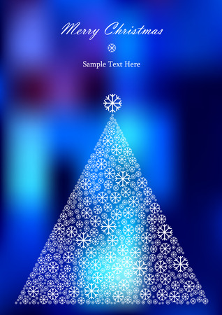 snow flakes: vector christmas tree of snow flakes