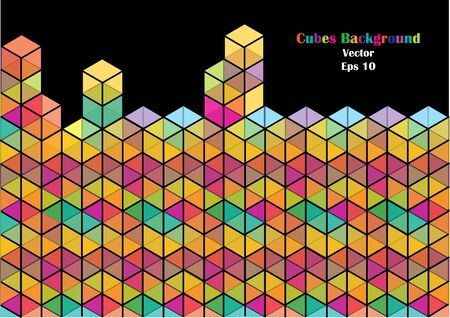 bright: bright vector cubes background