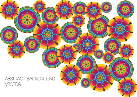 retro circles: retro circles vector background