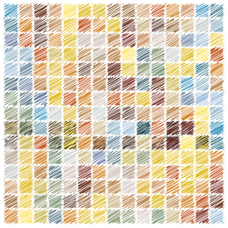 linen: scribble vector mosaic tiles background Illustration