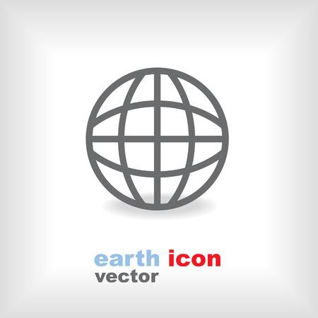 flat earth: modern flat design vector earth icon Illustration