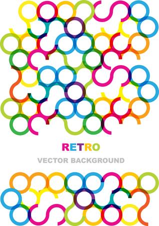 circles: rainbow circles vector background