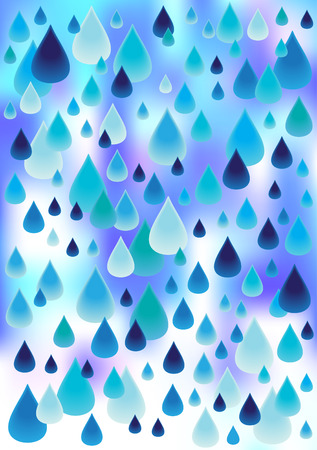 raindrops vector background