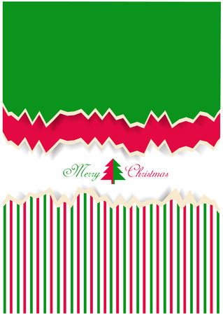 christmas motif: christmas motif on ripped papers