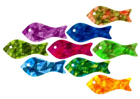 bright: Bright vector fish silhouettes Illustration