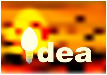 lighting bulb: Idea concept with lighting bulb Illustration
