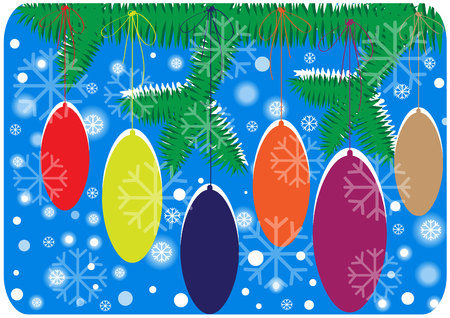 decorated tree: colur vector merry christmas background with decorated tree