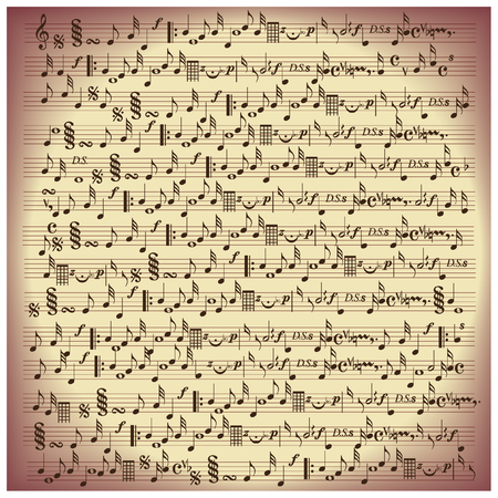 vintage vector music notes paper