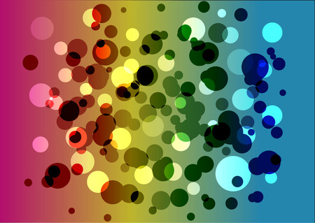 rainbow: rainbow background with bubbles