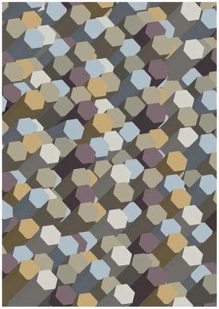 zuilen: dimensional hexagonal columns background