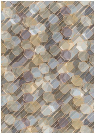 hexagonal: hexagonal columns vector illustration Illustration