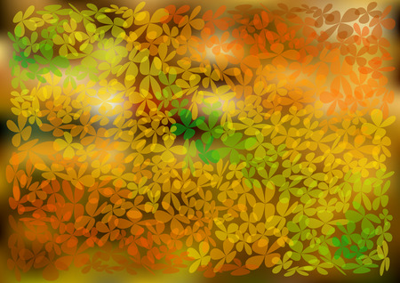 brigt: autumnal background with leaves brigt Illustration