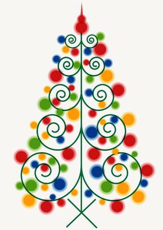 lighting: lighting vector christmas tree Illustration