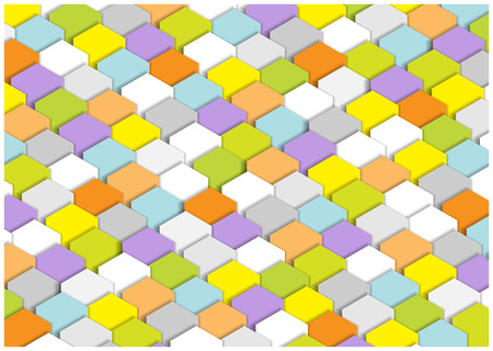 bright colorful vector cubes background Illustration
