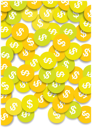 dollar coins: dollar coins vector background