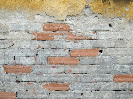 color photography: color photography of old bricks wall Stock Photo