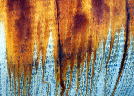 color photography: color photography detail of rusty iron plate Stock Photo