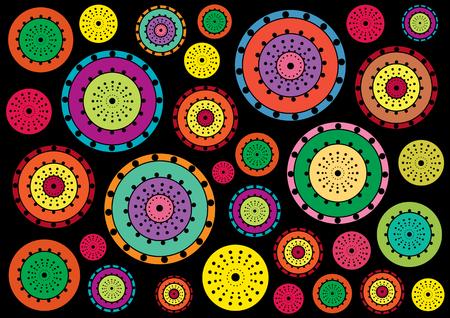 circles: Bright retro circles background