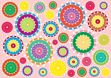 cog wheels: bright retro cog wheels background Illustration