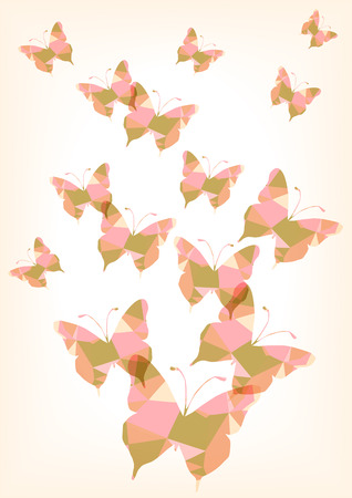 romantic: romantic polygon butterflies