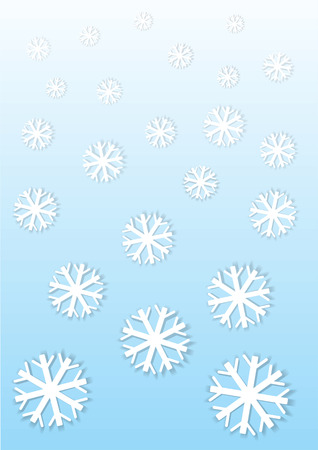 snow flakes: paper vector snow flakes background Illustration
