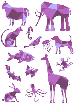 mosaic tiles: bright mosaic tiles animals collection