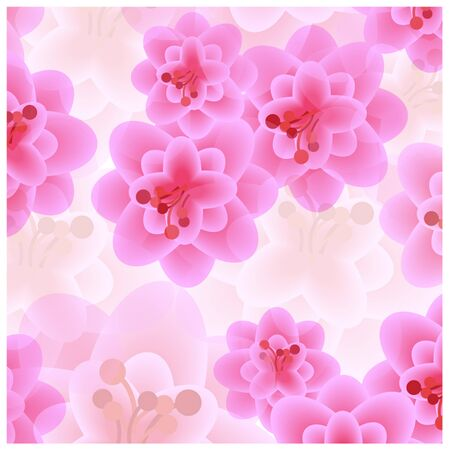 romantic: romantic pink flowers background Illustration