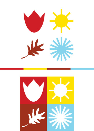 wite: set of vector four seasons icons Illustration