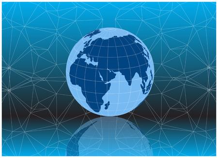 color vector 3d earth globe icon