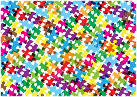 color vector bright puzzle pieces background