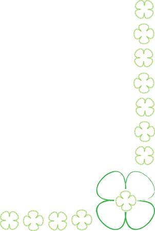 four leafs clover: green four leaf clovers frame
