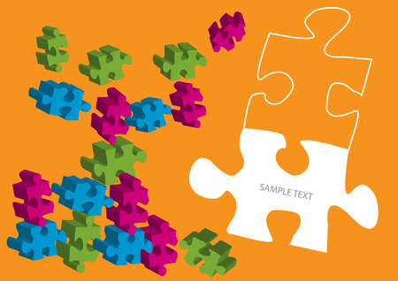 bright vector puzzle pieces background Illustration