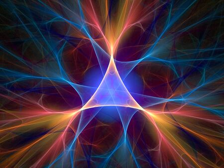 abstract lighting fractal background Stock Photo