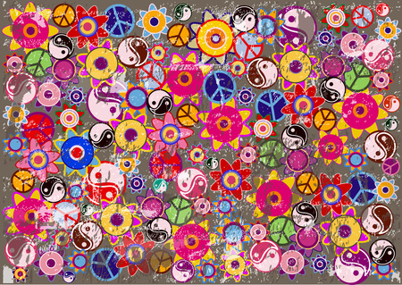 hippies: color vector hippies background