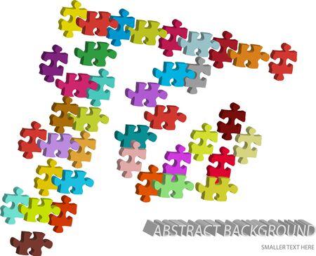 3d vector puzzle pieces background
