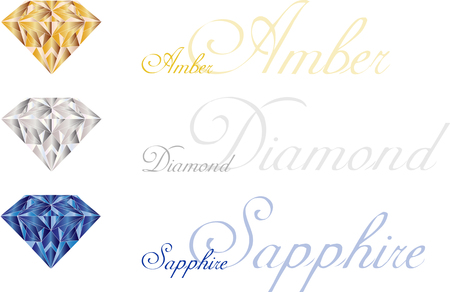 gem: set of vector gem stones