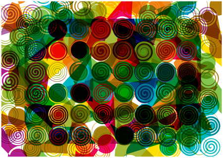 bright abstract vector background with circles