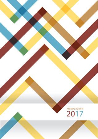 modern vector flat design backgroun, trendy annual repot cover layout Ilustração