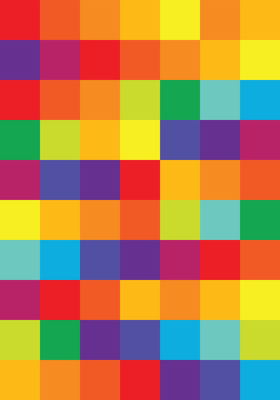 abstract vector background with color harmonies squaises