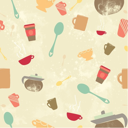 Caffeine crazy seamless background