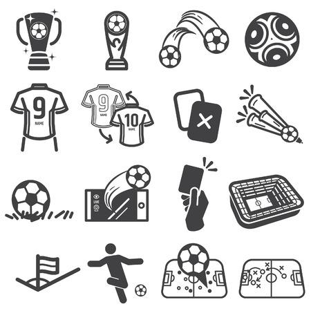 Football, icône de football - vecteur. Vecteurs