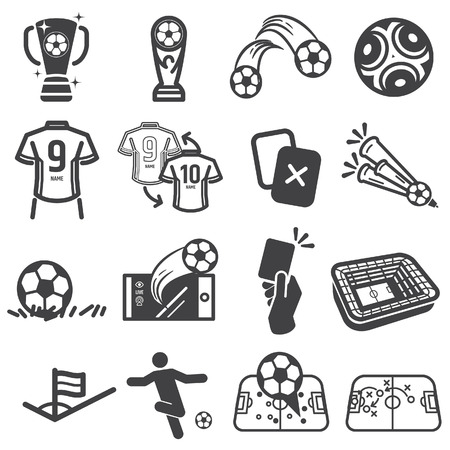 Soccer,football  icon -vector. Çizim
