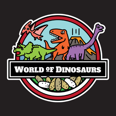 World of Dinosaurs design. Vectores