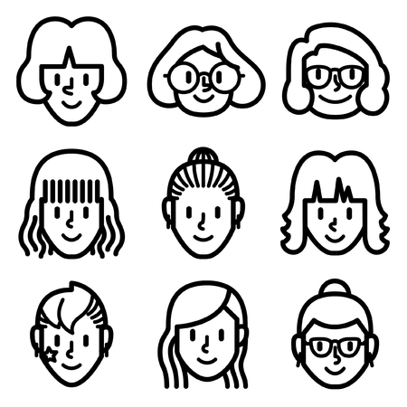Woman face icon